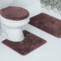 оптовая дешевые полиэстер Туалет Ванная комната ковров комплект