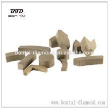 Segmento de diamante para disco de molienda, ladrillo de molienda y rueda de copa