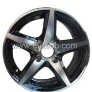 """14 """", 15"""" y 16 """"estilo personalizado negro aluminio rueda llanta de aleación"""