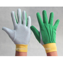 garden working gloves with pvc dots palm