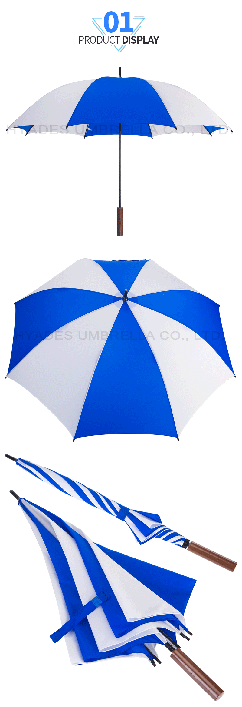 Manual Open Straight Umbrella Promotional