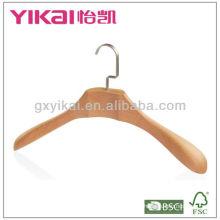 High grade wooden coat hanger with wide shoulders