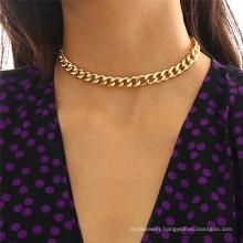 Punk style hip-hop street hipster necklace 18k retro titanium steel necklace