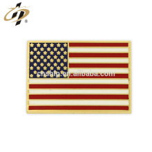 Promotional gift metal Rectangle American Flag Gold Pin