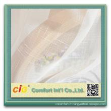 Tissu croisé de tissu de rideau en tissu de rideau en grain croisé teint par fil