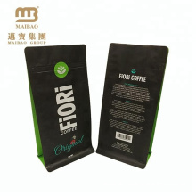 OEM Design Custom Printed Aluminum Foil Standing Flat Bottom Coffee Gusset Pouch with Valve Zipper