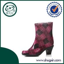 high wedge heel rain boots