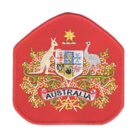 Emblemas australianos do bordado do exército do canguru e do Emu