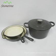 Bestseller Kochgeschirr Gusseisen Hot Pot Emaille Auflauf Set