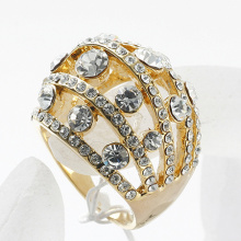 Fashion personality gold and silver color rhinestone ring bridal jewelry wholesale