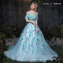 XXLF172 bridal off shoulders sleeve capes light blue short puffy party prom
