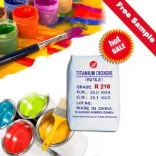 Tintas y capas de imprimación a base de aceite Dióxido de titanio TiO2 R210 rentable