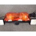 12V LED Mining Light Bar Emergency Warning Signal Rotating Flashing Amber Mini light with Worklight