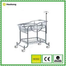 Krankenhausmöbel für medizinische Edelstahl Baby Kinderwagen (HK502)