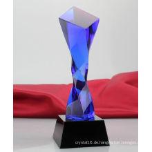 Kundenspezifische hochwertige Crystal Trophy kreative Slant Glas Trophy