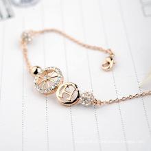 Atacado China Pulseira Jóias letra diamante puro h e roda de cristal pulseira jóias acessórios