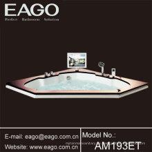 Bañera de hidromasaje de acrílico sin hidromasajes Bañera de masaje / bañera con TV (AM193ET)