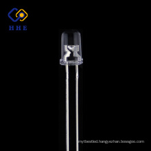 high brightness 5mm round IR led 850nm water clear