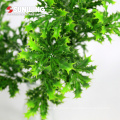 customized green artificial ficus spray with leaves for flora wall decor