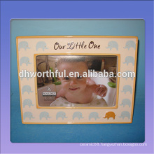 Decorative cute ceramic photo frame for kids with elephant pattern