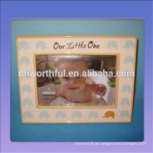 Moldura de foto de cerâmica bonito decorativo para crianças com padrão de elefante