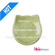 Plato de cerámica del anillo de la joyería del gato de los nuevos regalos de la llegada
