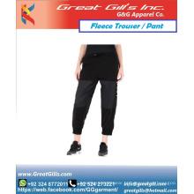 calças de lã personalizadas / calças de moletom de ginástica / calças de corrida preço barato calças de lã cinza