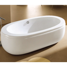 72 X 32 Oval Freestanding Acrylic Tub with Drain