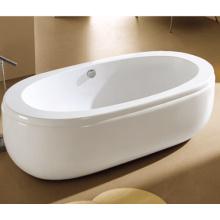 72 х 32 овальная Отдельностоящая акриловая ванна со сливом