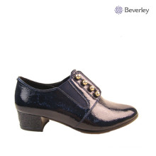Comfortable Leather Sole Lady Spring Shoe Wide fitting