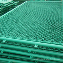 PVC Coated Chain Link Wire Mesh Fence in Green Color