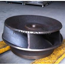 Turbine de pompe en fer gris ou ductile