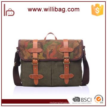 Wholesale Canvas Army Leisure Messenger Bag