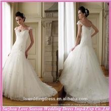 WD0127 bolsa de capim boné cintura encadernado ligeiramente encolhido encadernado aplainado em seda de sereia de tuleira vestido de noiva corpeado alongado