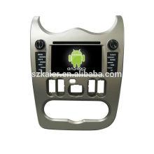 Quatro núcleos! Android 4.4 / 5.1 carro dvd para LOGAN com 6,2 polegadas tela capacitiva / GPS / Link Mirror / DVR / TPMS / OBD2 / WIFI / 4G