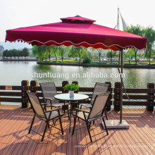 Garden aluminum fabric 5pcs dining sets furniture balcony chairs for outdoor