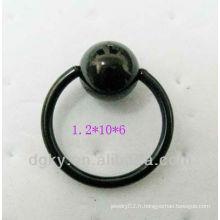 Bague de fermeture à billes en acier anodisé noir