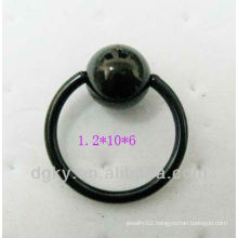 Black anodized steel ball closure ring