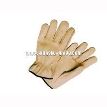 Корова Зерна Кожаные Перчатки Без Подкладки Работу Водителя-9001