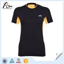 Alta Spandex Mulheres Compressiom Tops Stretch Sports Wear