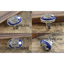 Charm Rings Lapis Lazuli Fashion Jewellery Set Vogue Drama Style