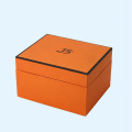 Orange color custom coffee mug boxes