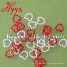 Al por mayor flojo DIY acrílico / ABS corazón de plástico forma perlas perlas joyería decoración