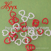 Wholesale loose DIY Acrylic/ABS plastic heart shapes pearl beads jewelry decoration