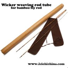 Tejido de mimbre Bamboo Fly Rod Tube