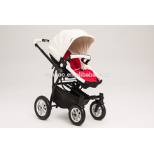 Neues Design Luxus Baby Kinderwagen Kinder Pram Vier Räder Leder PU Stoff mit EN1888