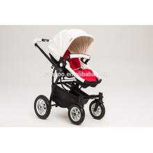 Новый дизайн Роскошные детские коляски Детские коляски Четыре колеса кожа PU ткань с EN1888