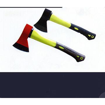 Hache avec manche en plastique-enduit (SD105)
