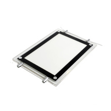 Super slim A1 advertising led acrylic crystal lightbox menu for restaurant and real estate agent