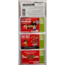 Carte de recharge de téléphone portable Scratch de prix concurrentielle